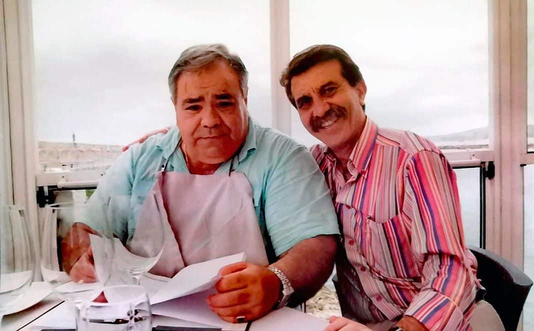 Mauricio Blanco y Alejandro de Ancos en una comida en San Vicente de la Barquera