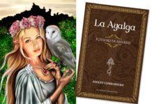 Xana y portada del libro La Ayalga