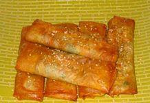 Rollitos de pimiento y calabacín, del blog Se me quema la comida