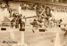 Ireneo de Lucas (dorsal 240) y Santiago de la Parte en una carrera de obstáculos