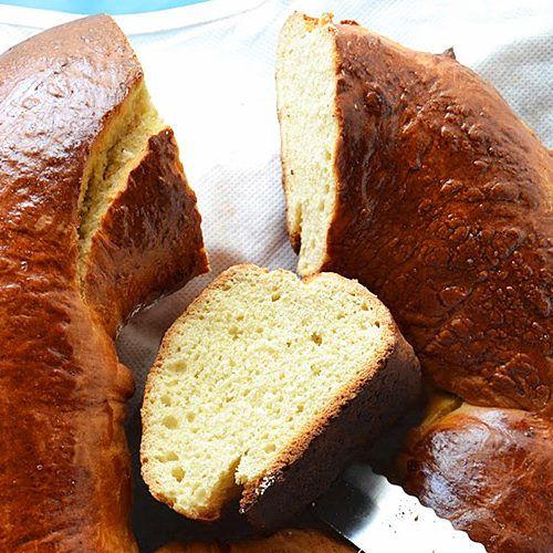 Detalle de la Rosca de Cantelo, dulce típico de Pascua en la zona de los Oscos