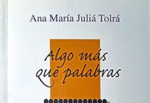 Libro de poemas de Ana María juliá Tolrá 'Algo más que palabras'