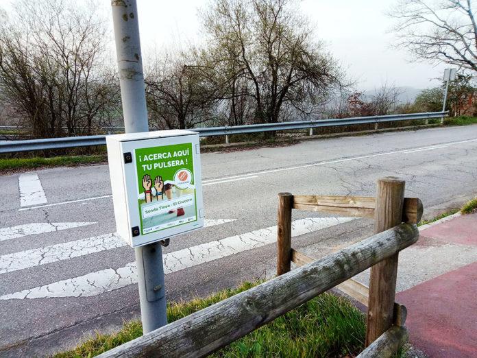 Puesto de monitorización de Itinera2 en la senda verde