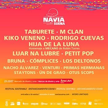 Cartel de la programación Navia Suena 2021