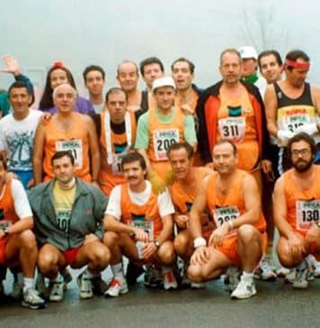 Equipo MAPOMA previamente a la salida del Maratón Valle del Nalón