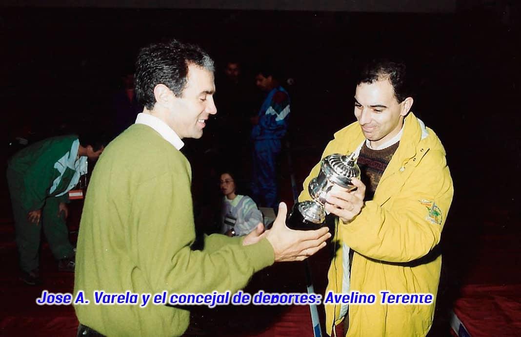 José A. Varela y el concejal de deportes Avelino Terente