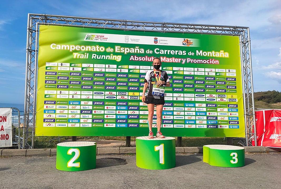 Mila Álvarez, primer puesto en su categoría en el Campeonato de España de Carreras de Montaña. Liencres (Cantabria). Abril 2021