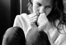 Chica con depresión