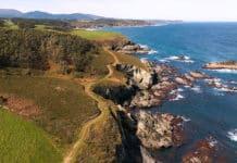 Vista panorámica de la Senda Costera de Navia