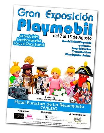 Cartel de la Gran Exposición Playmobil que se expondrá en Oviedo