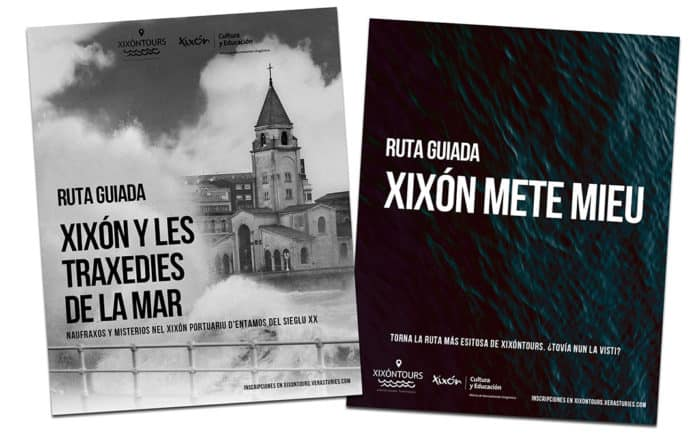 """Algunos de los carteles de la nueva edición de """"Xixón Tours"""""""