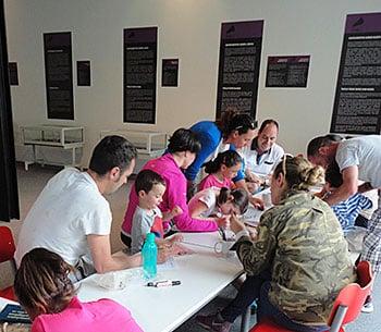 Taller infantil en el Centro de Arte Rupestre Tito Bustillo (Ribadesella), en una edición anterior