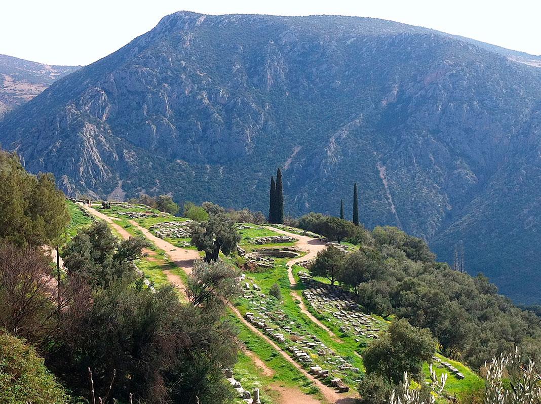 Delfos, donde se ubicaba su gimnasio