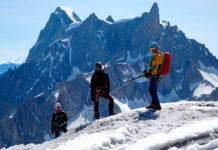 Fernando Calvo guiando en los Alpes franceses