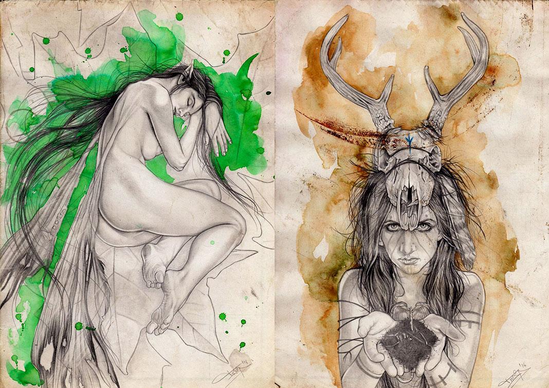 Dibujos de la ilustradora Thanya Castrillón