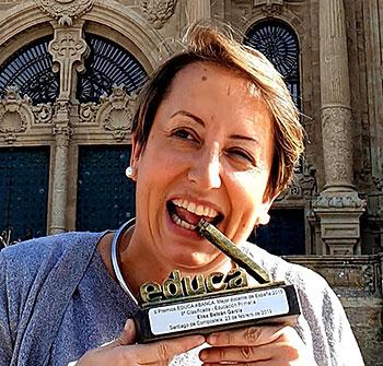 Elisa Beltrán con el Premio Educa 2019