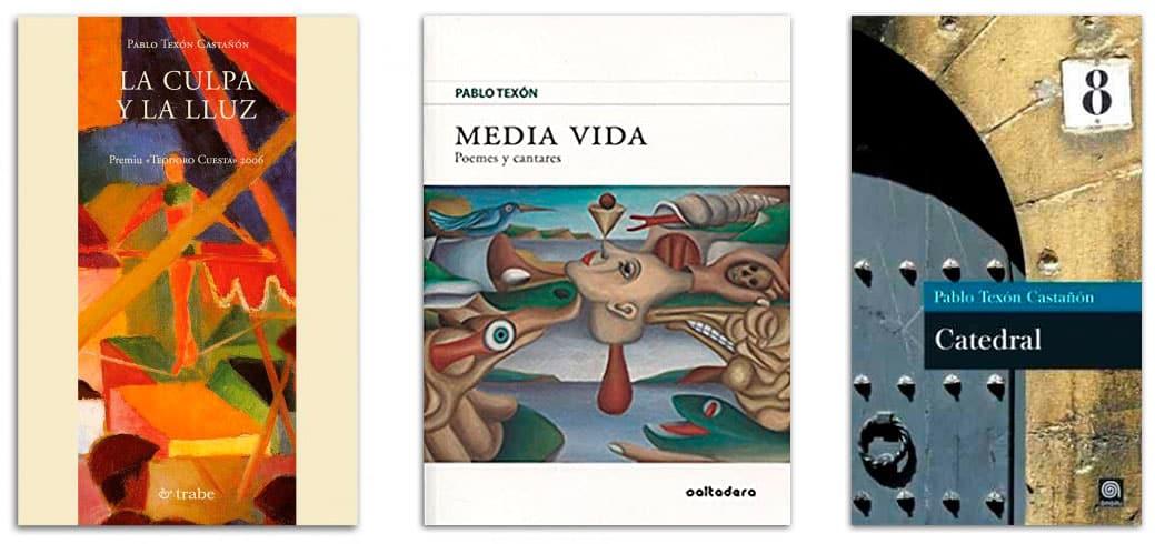 Distintos poemarios de Pablo Texón Castañón