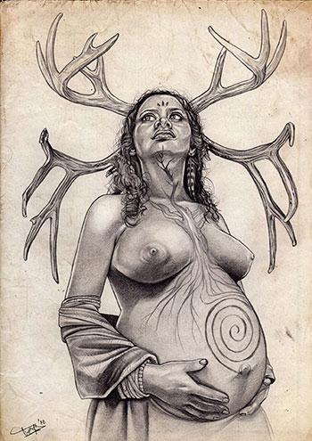 Madre Tierra, ilustración de Thanya Castrillón