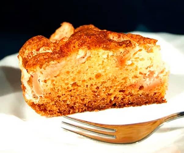 Tarta de manzana y yogur elaborada por Raquel, de Manzanas Rojas