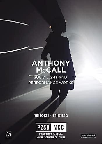 Cartel de la exposición de Anthony McCall, 'Solid light and Performance Works'