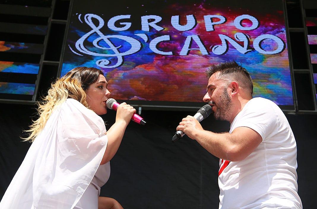 Lucía Revuelta e Iván Cano, cantantes del grupo D'Cano