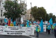 Manifestación de la Coordinadora Estatal por la Defensa del Sistema Público de Pensiones