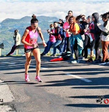 La cántabra Merche Palacios volvió a ganar la Subida al Angliru, por quinto año, en la categoría femenina