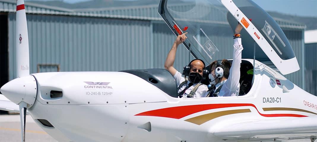 Samuel Pérez, estudiante para piloto comercial, fundador de la Asociación Aerospotters Principado